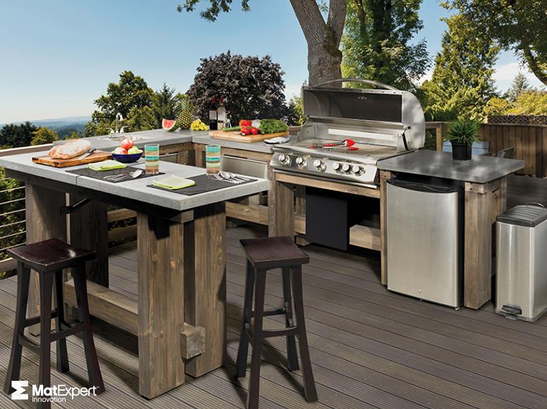 cuisines ext rieures foyer rustique. Black Bedroom Furniture Sets. Home Design Ideas